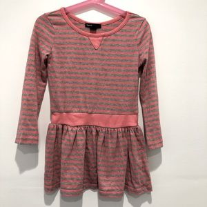 GAP kids Pink and Grey Cotton Blend Dress XS